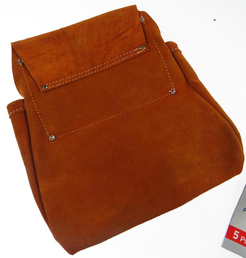 Details zu Leder Werkzeugtasche Werkzeug Ledergut 5 Taschen (ohne Gürtel)