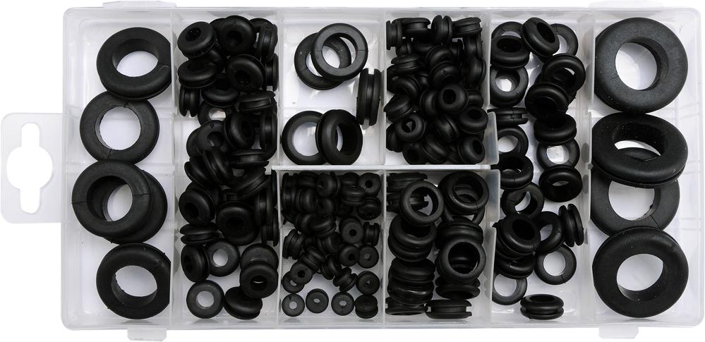 Durchgangstüllen Sortiment Gummi-Tüllen Set 180-tlg Gummitülle Kabeldurchführung